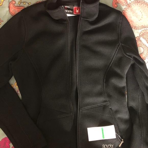 7b8ffec367 Women s spyder Black Zip up Jacket NWT